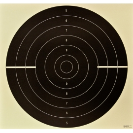 Tarcza pistolet szybkostrzelny, papier, 52x55