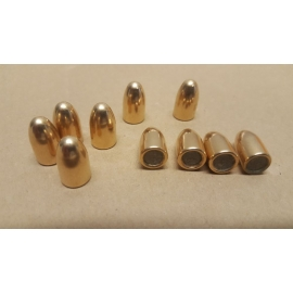 Pociski 9 mm (.355) 124 grain/8 gram, FMJ CuZn30, LIMIT-Z