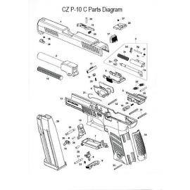 Disassembly plate spring CZ P-10C
