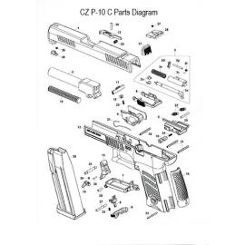 Sprężyna zatrzasku magazynka CZ P-10C
