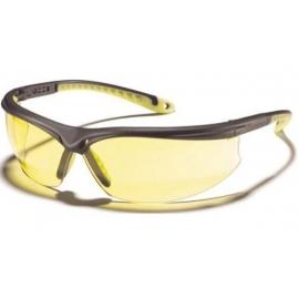 Okulary ZEKLER 45 żółte, oprawki czarno-zielone