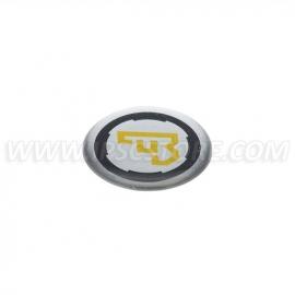 Naklejka typu bubble z logo CZ