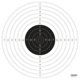 Tarcza pistolet sportowy 52x55