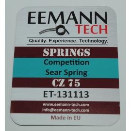 Sprężyna zaczepu kurka (sear spring) Competition -10% siły CZ 75/85, CZ 75 SP-01 Shadow, CZ Shadow 2, CZ 75 TS